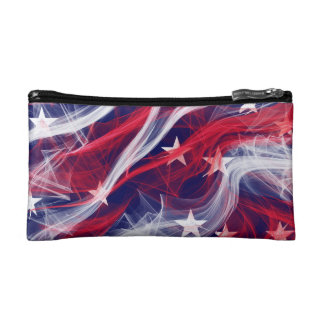 Cosmetic bag with patriotism