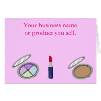 Cosmetic Business Promotional Card