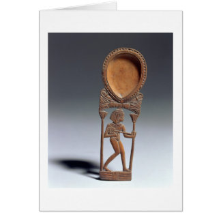 Cosmetic spoon with a figure of a lutenist, New Ki Greeting Card