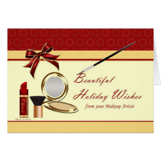Cosmetics From Makeup Artist Holiday Blank Card