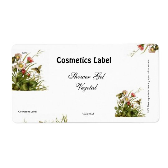 Cosmetics label