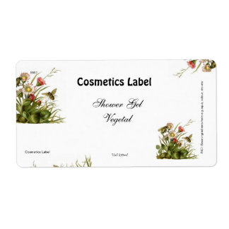 Cosmetics label shipping label