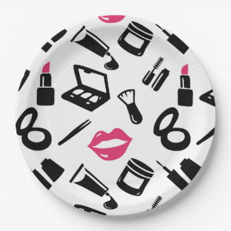 Cosmetics Pattern Paper Plate