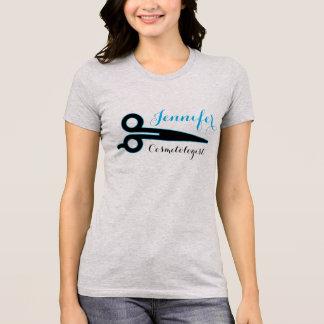 Cosmetologist, Beauty Industry Name Scissor Design T-Shirt