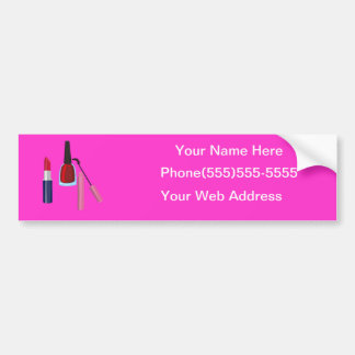 Cosmetologist Business advertisment Bumper Sticker