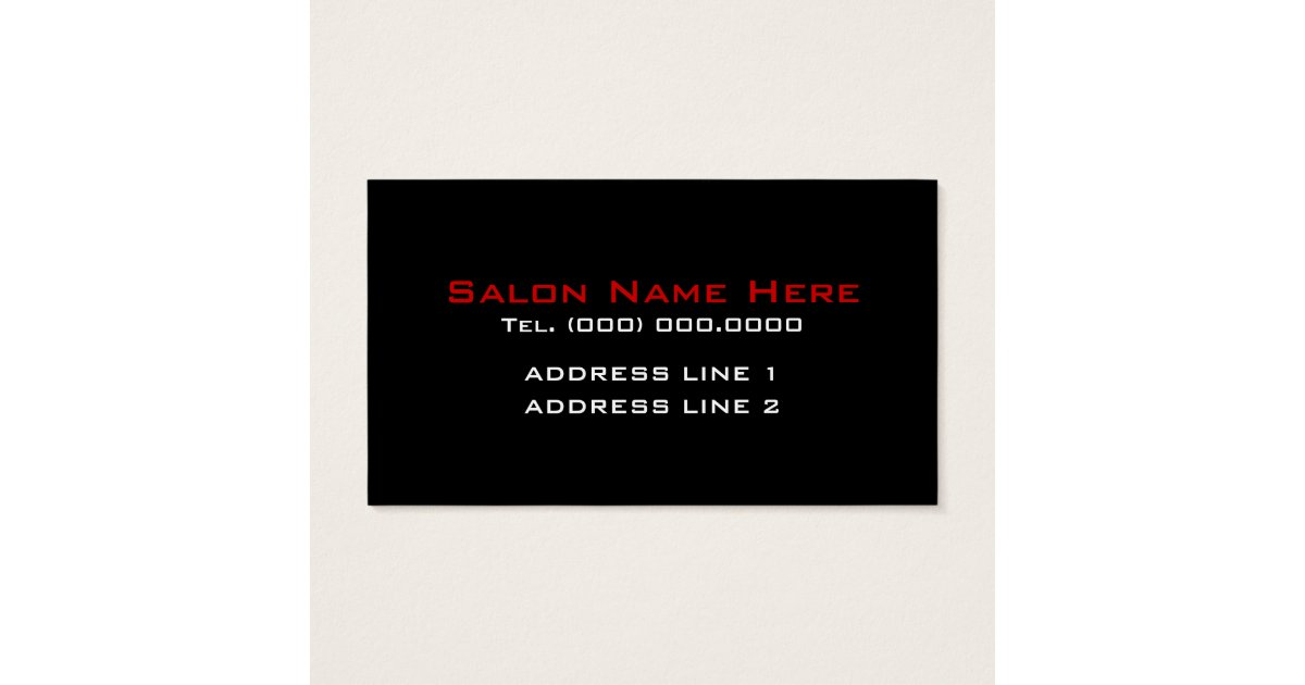 Cosmetologist Business Cards Zazzle