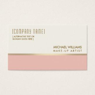 Cosmetologist Elegant Light Hall Pink Massage Business Card