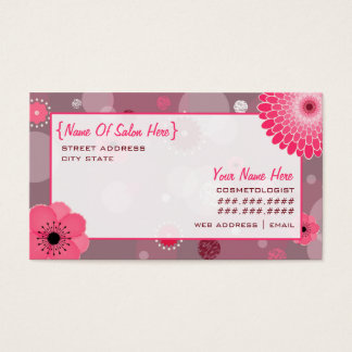 Cosmetologist Salon Appointment Floral Card