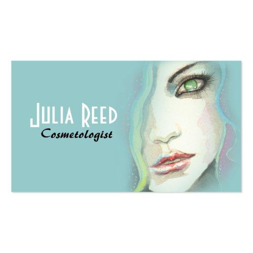 Cosmetology Beauty Makeup Artist Business Card