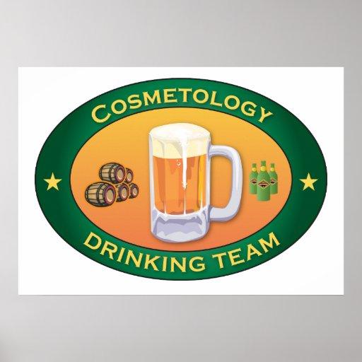 Cosmetology Drinking Team Print