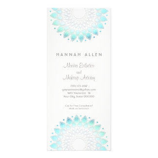 Cosmetology Elegant Aqua Spa and Salon Menu Rack Card