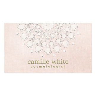 Cosmetology Elegant Circle Rosette Light Pink Pack Of Standard Business Cards