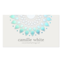 Cosmetology Elegant Lotus White Spa and Beauty Business Card
