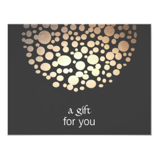 Cosmetology Gold and Black Spa Gift Certificate 11 Cm X 14 Cm Invitation Card
