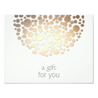 Cosmetology Gold Circles Spa Gift Certificate 11 Cm X 14 Cm Invitation Card