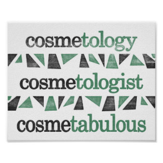 Cosmetology Poster - Funny Grammar