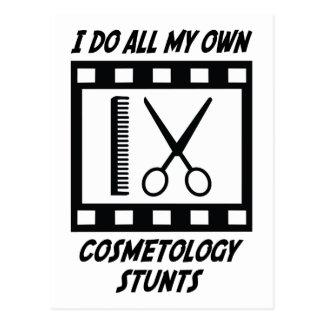 Cosmetology Stunts Postcard
