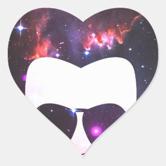 Cosmic Afro Heart Sticker