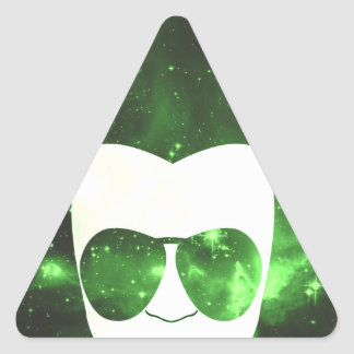 Cosmic Afro Triangle Stickers