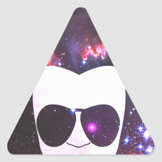 Cosmic Afro Triangle Sticker