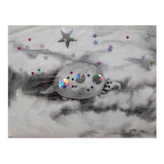 Cosmic Armadillo CricketDiane Art & Design Postcard
