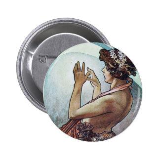 Cosmic Art Nouveau Pin