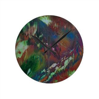 Cosmic Aurora Round Clock