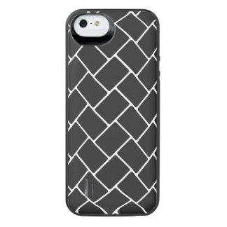 Cosmic Black Basket Weave iPhone SE/5/5s Battery Case