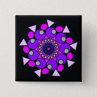 Cosmic Black Pink Purple Geometric Star Button