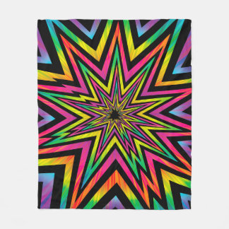 COSMIC BLAST -001 FLEECE BLANKET -ZAZ