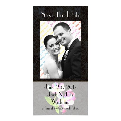 Cosmic Blossoms WEDDING Save-The-Date Custom Photo Card