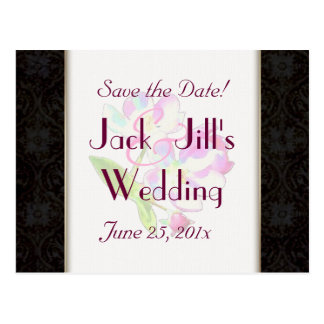 Cosmic Blossoms WEDDING Save-The-Date Postcard