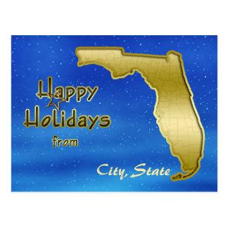 Cosmic Blue Sky Florida Map Custom Post Cards