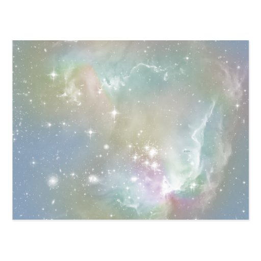 Cosmic Blues Pastel Space Art Postcards