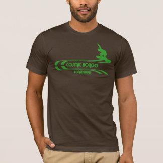 Cosmic bongo Retro snowboarding T-shirt