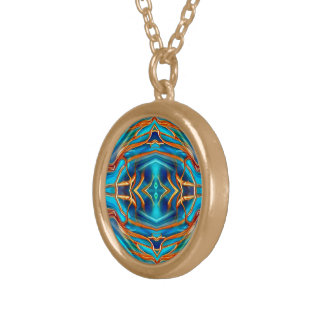 Cosmic Branches Super Nova Car Mirror Mojo Gold Plated Necklace