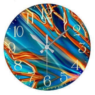 Cosmic Branches Super Nova Large Clock