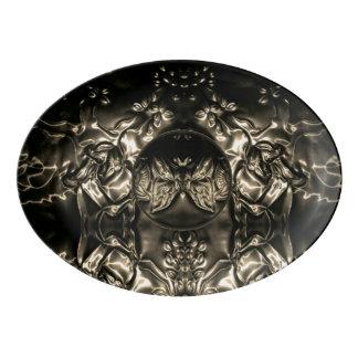 Cosmic Butterfly Embossing Art Porcelain Serving Platter