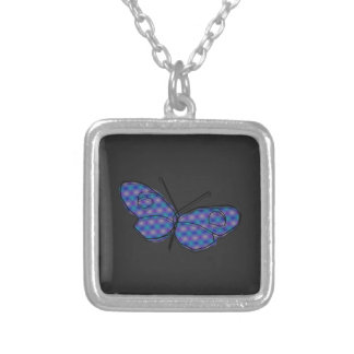 Cosmic Butterfly Silver Plated Necklace