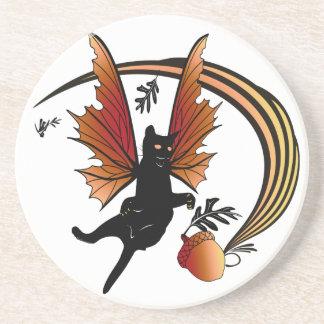 Cosmic Cat Acorn Coaster