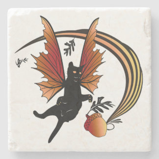 Cosmic Cat Acorn Stone Coaster