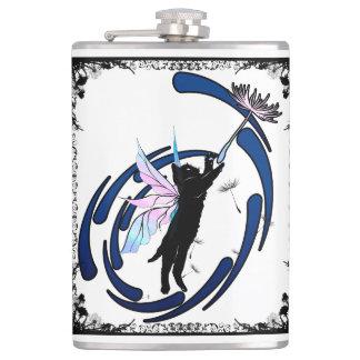 Cosmic Cat Dandelion Hip Flask