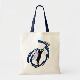 Cosmic Cat Dandelion Tote Bag