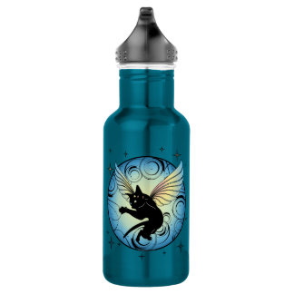 Cosmic Cat Moon and Stars 532 Ml Water Bottle
