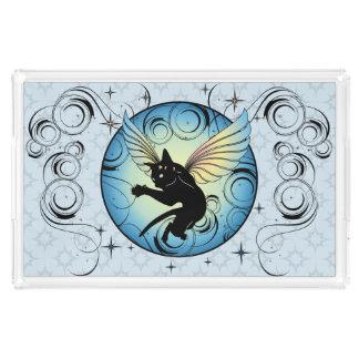 Cosmic Cat Moon and Stars Acrylic Tray