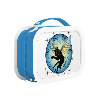 Cosmic Cat Moon and Stars Lunch Box