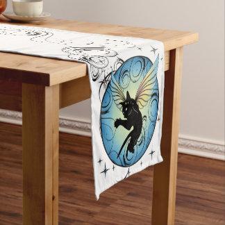 Cosmic Cat Moon and Stars Short Table Runner