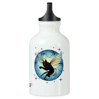 Cosmic Cat Moon and Stars Water Bottle