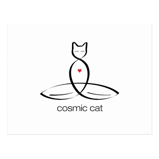 Cosmic Cat - Regular style text. Postcards