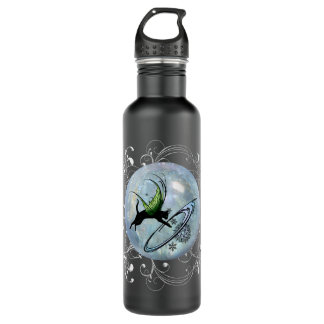 Cosmic Cat Snowflake 710 Ml Water Bottle